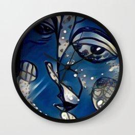 Blue Kisses Wall Clock