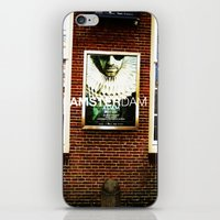posters iPhone & iPod Skins featuring Amsterdam Posters by Cristhian Arias-Romero