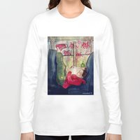 video games Long Sleeve T-shirts featuring Girls & Video Games by Danielle Feigenbaum