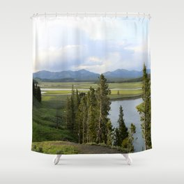 Yellowstone River Valley View Shower Curtain