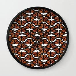 Orange Mariposis  Wall Clock