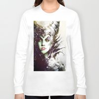 maleficent Long Sleeve T-shirts featuring Maleficent by Vincent Vernacatola