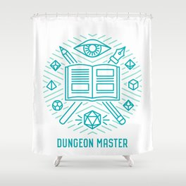 Dungeon Master Emblem Shower Curtain