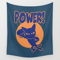 power Wall Tapestries featuring Power! by BATKEI