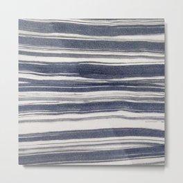 Brush stroke stripes Metal Print