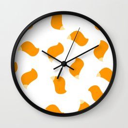 Fox tails Wall Clock