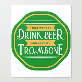 Beer And Trombone Trombone Marching Band Superbone Ska Music Canvas Print