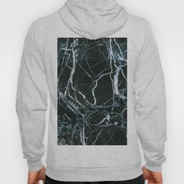 Black Marble With White Ribbons Hoody
