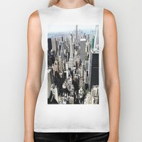 concrete Biker Tanks featuring Concrete Jungle by Christine Workman