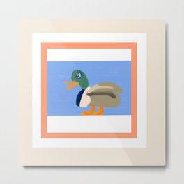 A Duck Walks the Talk Metal Print