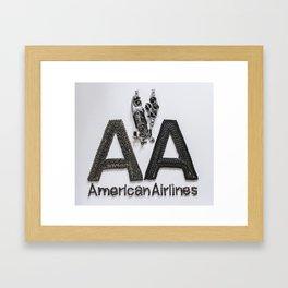 045: American Airlines - 100 Hoopies Framed Art Print