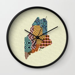 Maine State Map Wall Clock