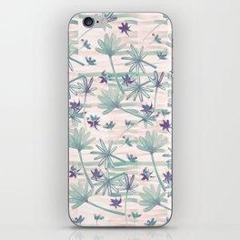 Sea floral print iPhone Skin