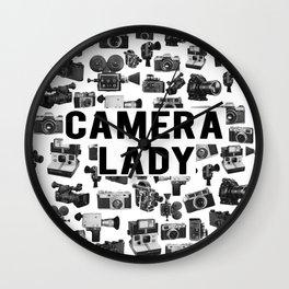 Camera Lady Wall Clock