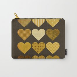 Chocolate Hearts Carry-All Pouch
