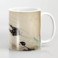 pool Mugs featuring Pool by Agne Nananai
