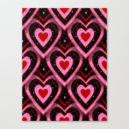 Heavenly Hearts - Valentines Day Canvas Print