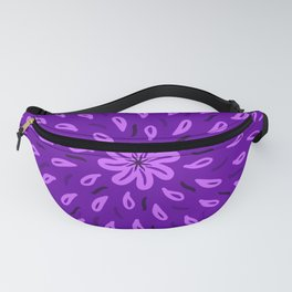 Purple Flower Drops Fanny Pack