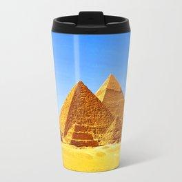The Pyramids At Giza Travel Mug