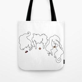 Sanderson Sisters Line Art Tote Bag