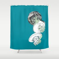 jelly fish Shower Curtains featuring Jelly Fish by Eleanor V R Smith
