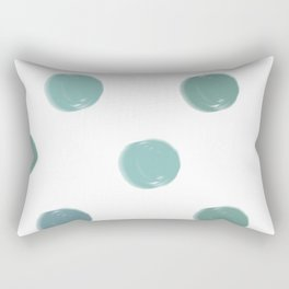 Abstract Modern Art 5 Teal Spots Rectangular Pillow