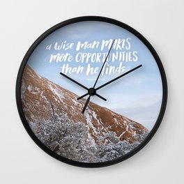 Opportunities Handlettered Quote - Arches National Park Photograph Wall Clock