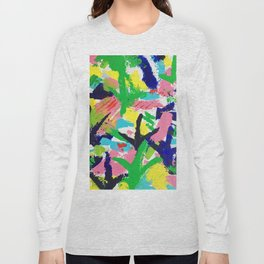 Bird Tracks, Abstract Art Long Sleeve T-shirt