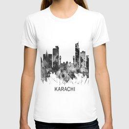Karachi Skyline Pakistan BW T-shirt