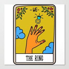 THE RING #Tarot Card Canvas Print
