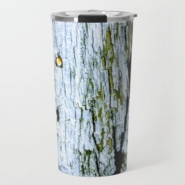 Weathered Barn Wall Wood Texture Travel Mug