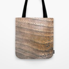 Warm Waved Wood Tote Bag
