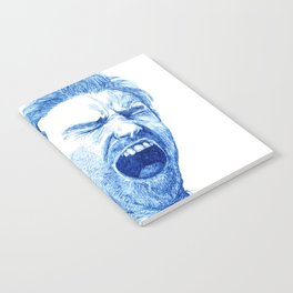 Man yawning or screaming? Notebook