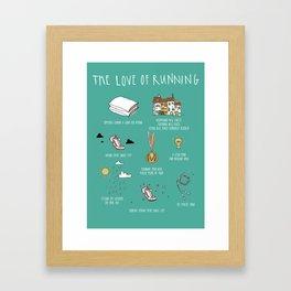 The Love of Running Framed Art Print