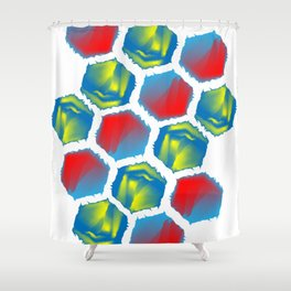 Mexi hexi Shower Curtain