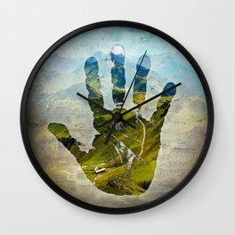 Hand Print Wall Clock