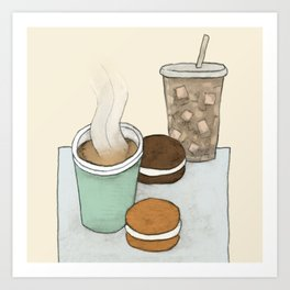 Hot Tea, Iced Coffee, and Whoopie Pies Art Print