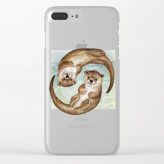 OTTERs over Praha Clear iPhone Case