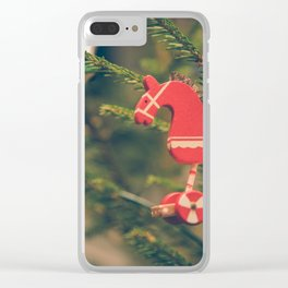 decor hanged on christmas tree Clear iPhone Case