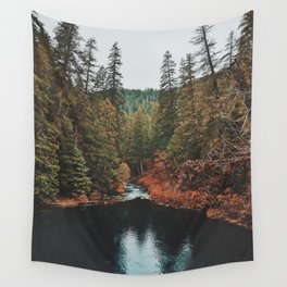 Blue Pools Exploring Wall Tapestry