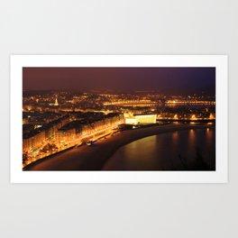 San Sebastian Panoramic view Art Print