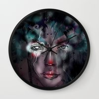 fairy Wall Clocks featuring fairy by Irmak Akcadogan