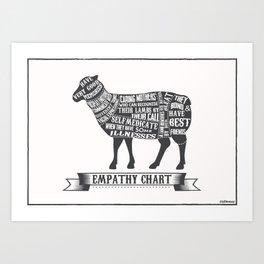 Empathy chart, sheep/lamb Art Print