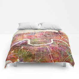 New Orleans map Comforters