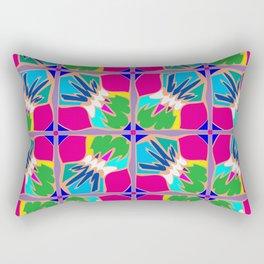 Tropical Shapes Pink Rectangular Pillow