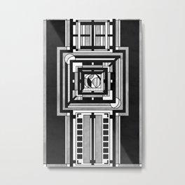 Tapestry - Art Deco Drawing Metal Print