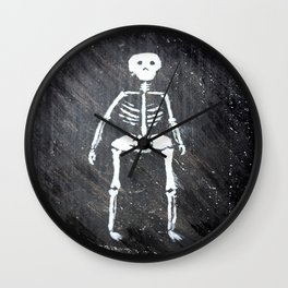 Overweight skeleton Wall Clock