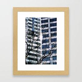 Split the Heavens Framed Art Print