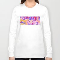 lavender Long Sleeve T-shirts featuring Lavender by elikourY