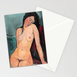 "Amedeo Modigliani ""Female nude (Iris Tree)"" Stationery Cards"